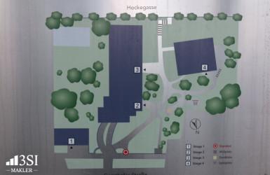 Lageplan Wohnanlage 1180 Wien Gersthofer Straße 119